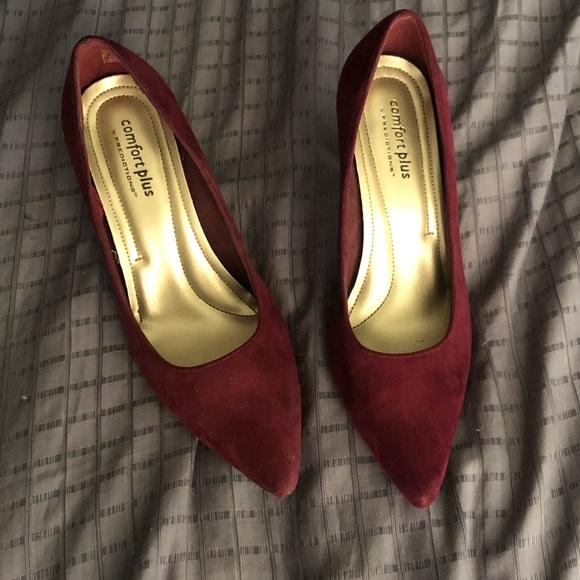 fdd07eed7 comfort plus by Predictions Shoes | Burgundy Heels | Poshmark